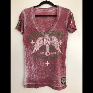 AFFLICTION Burnout Tee